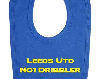 Leeds United No 1 Dribbler Baby Bib