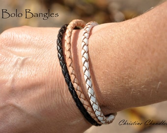 Bolo Bangles by Christine Chandler are Here!!  Leather Bracelet w/ Stainless Steel Clasp - FREE SHIPPING to USA with Purchase of 3 or more.