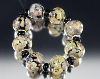 Jitterbug - Handmade Lampwork Glass Bead Set by That Bead Girl