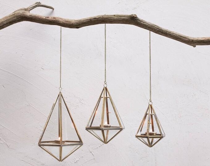 Handmade Brass Hanging Lanterns