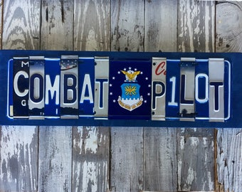 Air Force License Plate Signs--license plate signs--military pilot sign-AF pilot signs-USAF pilots-Air Force gifts