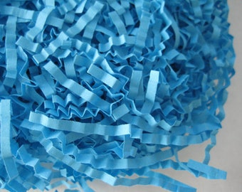Turquoise Crinkle Paper, Shredded Paper for Gift Boxes, Gift Bags, Baskets Filling, Party Decorations, Craft Accessories, 2 oz Bag