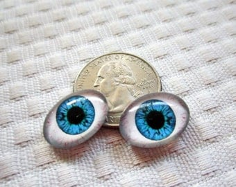 Oval doll glass eyes,human eyes,oval eyes,18x13mm cabochon,small oval glass cabochons