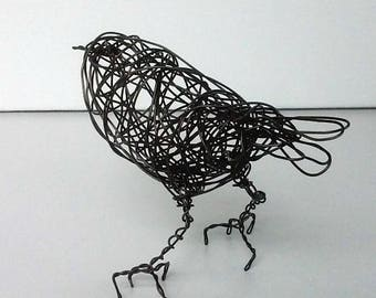 Original Handmade Wire Bird Sculpture -  BUTTERCUP