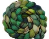 Handpainted roving - 21.5μ Merino wool spinning fiber - 4.0 ounces - For Love of the Hills 1