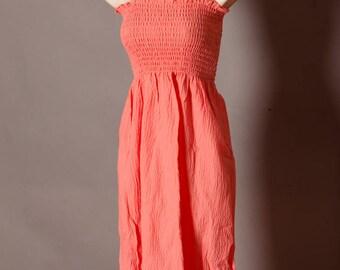 Vintage Women's Pink Summer Sundress