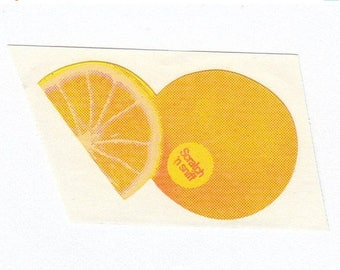 SALE Orange Scratch and Sniff Vintage 3M Sticker - 80's Citrus Scented Collectible
