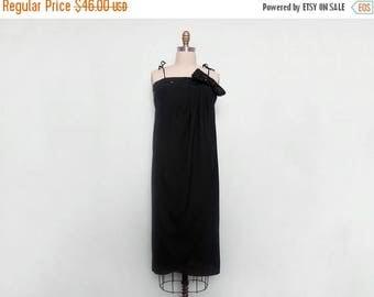 MOVING SALE 70s Disco Dress. Sequin Dress. Vintage Party Dress. Little Black Dress. Column Dress. Draped Dress. Tulip Dress. Sleeveless Dres