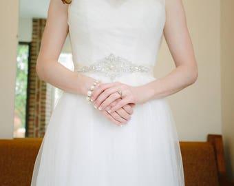 Crystal Bridal Sash, Rhinestone Belt, Beaded Bridal Belt, Prom Sash, Bridal Sash, Bridesmaids Sash, Wedding Dress Sash, Bridal Dress Sash
