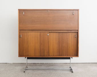 Mid Century Modern Drop Front Cabinet