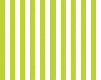SUMMER SALE Lime Green 1/2 Inch Stripes from Riley Blake