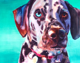 Dalmatian Dog Watercolor Fine Art Print on Paper, Metal, or Bamboo