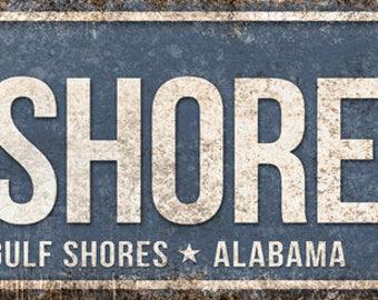 "Gulf Shores Pkwy // Gulf Shores, Alabama  // Metal Sign // 5.5"" x 22"""