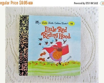 SALE 20% OFF Little Red Riding Hood, Original Little Little Golden Book, 1990s Miniature Classics 24 Pages-New Old Stock Unused