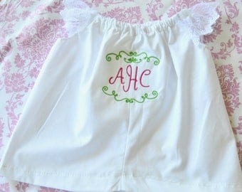 Baby dress personalized and diaper cover with  FREE monogram!