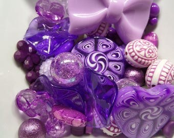 Destash, 40CT. Purple Paired Bead Collection, A3
