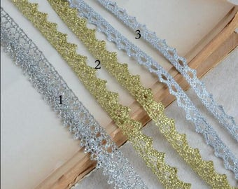 30 meter 1-1.2cm wide gold/silver braid tapes lace trim ribbon G18X378L0623C free ship