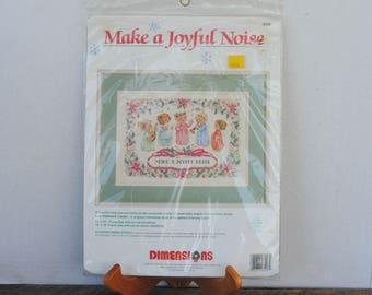 1992 Make A Joyful Noise Dimensions Counted Cross Stitch Kit