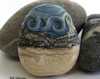 Hunstanton, Lampwork Focal Bead, SRA, UK