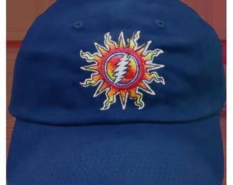 GD Sunshine Lightning Embroiderd Ball Cap-Blue