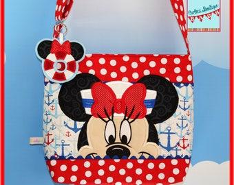 Disney Applique Minnie Mouse Cruise Bag Cross body Tote