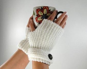 Fingerless Gloves Crochet Pattern #403 - Knit Look Fingerless Gloves Crochet Pattern - Women's and Men's Sizes - Instant Download PDF