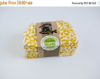 ON SALE Organic Cloth Wipes - Flannel Cloth Wipes - Organic Wipes - Double Layer -  Straw Gold Color  - Choose your Quantity & Size