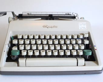Vintage Manual Typewriter - Olympia De Luxe - 1960's Olympia Typewriter - Vintage Office Decor - Made in Western Germany