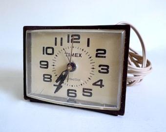Vintage Timex Electric Analog Alarm Clock - Made in USA - Floyd Jones Vintage