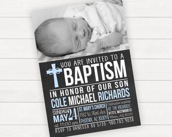 Baptism Invitation Christening Invitation Photo Baptism Invitation Baby Baptism Invitation Baptism Boy Baptism Girl Christening Boy
