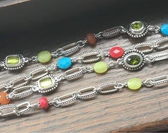 Colorful double stranded Brighton Jewelry necklace