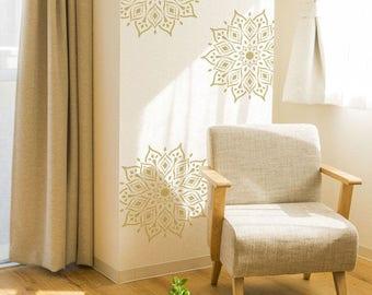 Rohan Mandala Indian Motif Stencil. Reusable Indian Themed Stencils For  Home Decor, Furniture,