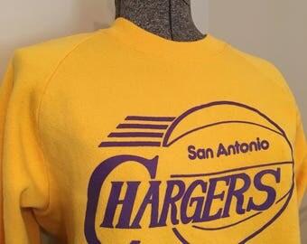 Vintage San Antonio Chargers Sweatshirt / San Antonio / Chargers / Vintage Basketball / Vintage Texas / Texas