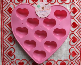 Heart Ice Cube Tray Mold Pink Plastic New and Cute Valentine's Day Love