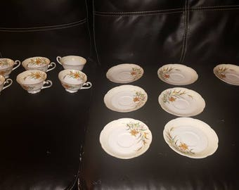 China teacups  And Saucers  japan CROWN & M MARKING ~