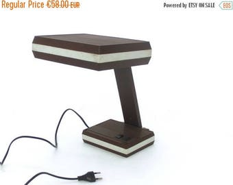 SALE 20% off Vintage brown lamp, 70s office lamp,Table lamp, Modern design, Desk lamp
