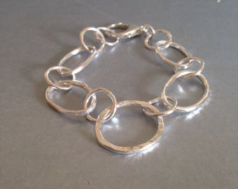 Large Silver Bracelet