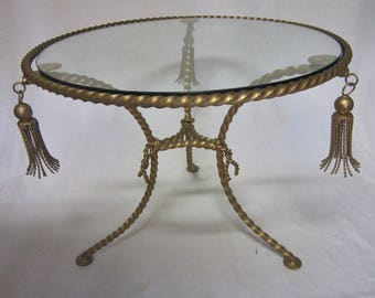 Italian Tole Tassel Table