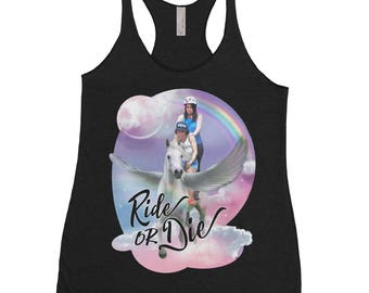 Ride Or Die - Broad City Shirt - Pegasus Tank - Fantasy Shirt - Feminist Shirt - Funny Tank Top - Pop Culture Tank Top - Rainbow Shirt