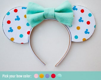 Fun Mickey Mouse Ears / Disney Ears for Disneyland / Disney Gift / Colorful fun Headband / Minnie Mouse