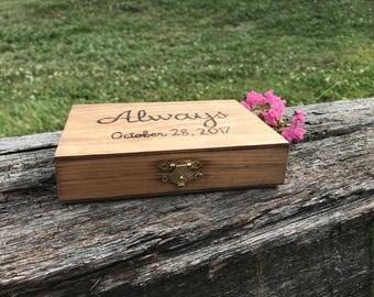Wedding Ring Box, Ring Box, Couples Ring Box
