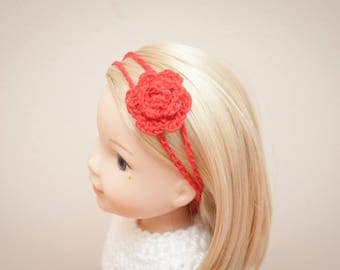 The Brenna Top and Flower Headband Crochet Patterns- for Wellie Wisher Dolls