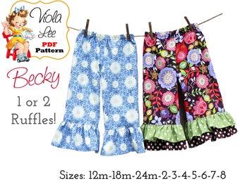 Toddler Pants Pattern pdf. Baby Pants Pattern. Girl's Pants Pattern pdf. Ruffle Pants Pattern. Infant - Toddler Girl's Sewing Pattern. Becky