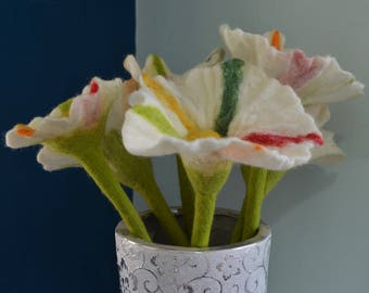 Felt flower's , Felted flower bouquet, flower arrangement, bridesmaid bouquet, Wedding favors