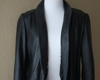 Clearance Sale Vintage Cropped Leather Jacket