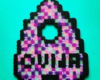 Ouija Planchette Perler Bead sprite / magnet / fuse beads / hama beads / fine art / Pixel art