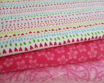Quilting Fabric Bundle - Fabric by the Yard -  1/2 Yard Fabric Bundle - Total 1.5 Yards - Cotton Fabric - Designer Fabric