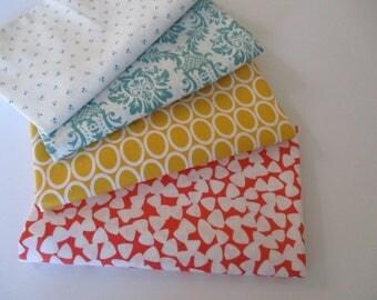 Fabric by the Yard,  Quilting Fabric Bundle, Robert Kaufman,  Cotton Fabric, 1/2 Yard EA
