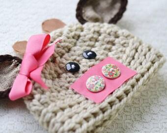 baby hat, cow hat,  baby cow hat, newborn cow hat, newborn baby hat, animal hat,  newborn crochet cow hat, baby winter hat, animal hat