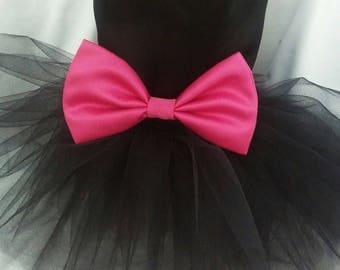 Dog Black Wedding Dress, Dog.  Black Wedding Tutu Dress -  Black Tulle Bridesmaid Dog Dress Tutu